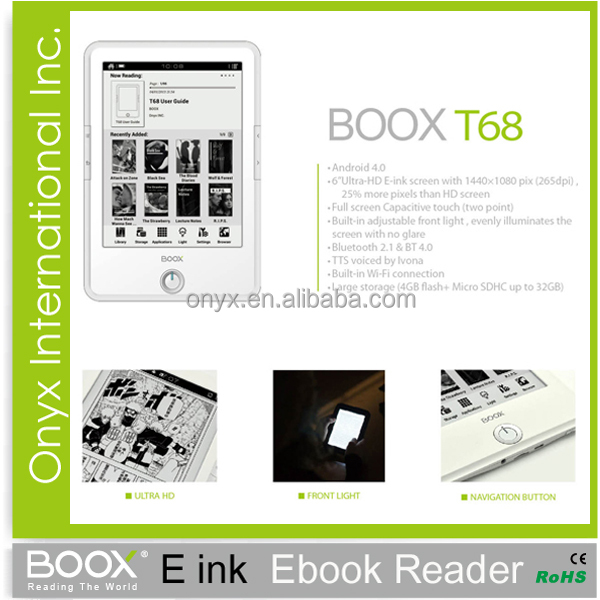 Onyx Boox ereader 6.8 inch with Front Light Android 4.0 T68
