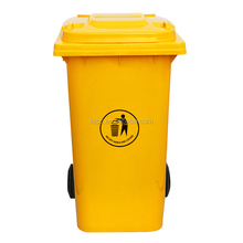 Hot for sale eco friendly recycled bin with wheels advertising trash bin 13 gallon trash can