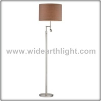 UL CUL Listed Brushed Nickel Customize Hotel Floor Lamp With Led Reading Light F60009