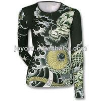 China custom long sleeve womens running t shirt jersey sublimated