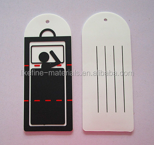 Custom Promotional Hard Paper PVC Rectangle Label Hang Tag