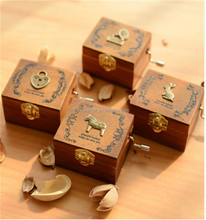 wholesale small wooden music box for christmas gift