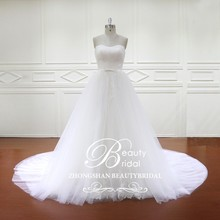 HD013 removable tulle overskirt wedding dress