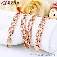 New Arrival Xuping Fashion Men Necklace with Rose Gold Color