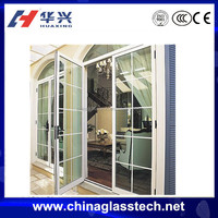 UPVC frame double leaves arched entry door