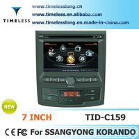 S100 Car DVD For Ssangyong Korando with GPS A8 Chipset 3 zone POP 3G/wifi BT 20 dics playing