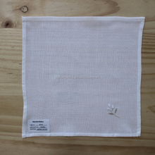 Sales Promotion White Embroidery Napkin