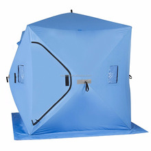 Waterproof pop up ice fishing tent with ventilation windows