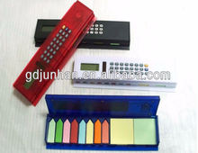 promotion gift 8 digital dual power ruler calculator with writing pad