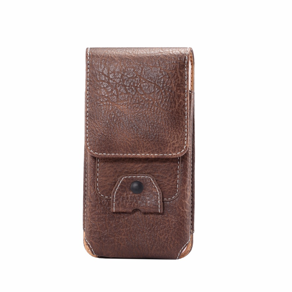 Business Style Casual Cell Phone Belt Clip Holster Card leather pouch case for iphone 8 Cover