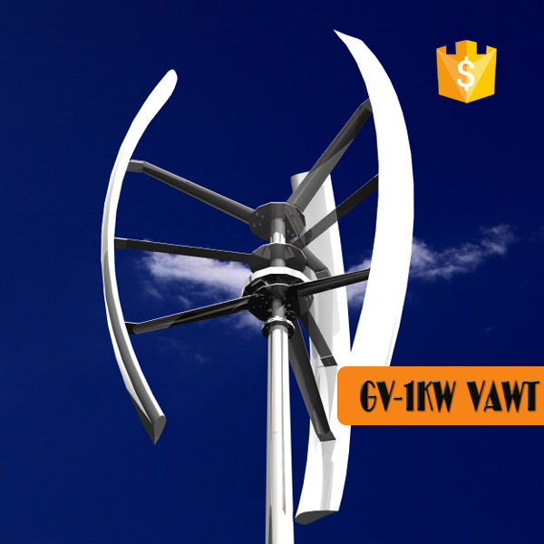 3KW vertical wind generator, Roof mounted wind alternator 3kw, micro spiral wind turbine
