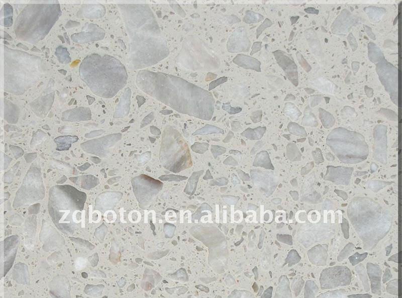 Resina terrazo baldosa de marmol crema gris compuesto Precio baldosa terrazo