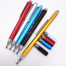 Touch Screen fiber tip and fine tip double tip stylus pen for smart phone
