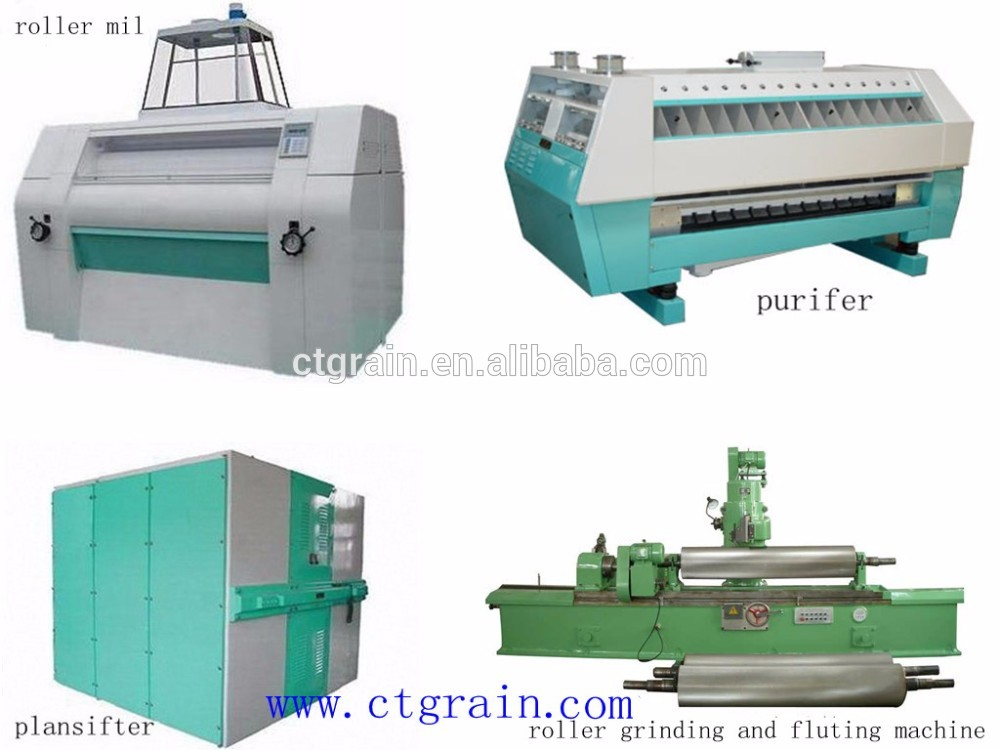 High quality machine grade Industrial Automatic Wheat Flour Mill with best and low price