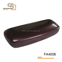 High-quality Purple shinning PU leather iron eyewear frame optical cases