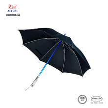 Windproof novelty straight handle led light electronic umbrella