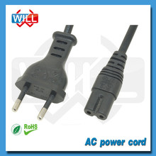 European standard 2 pin france 12v dc power cord with VDE