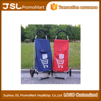 Custom LOGO 600D Oxford Folding light-weight portable Shopping Trolley Cart