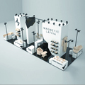 Detian Display offer Japan trade show booth for Latvia, professional modular exhibition booth design
