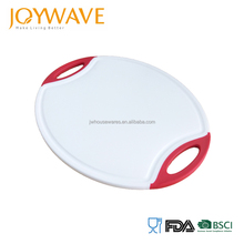 Top quality plastic round kitchen cheese cutting chopping board