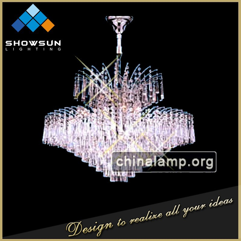 Latest chinese product restaurant decoration crystal pendent lamp
