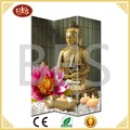 3 panles buddha room divider,interior room divider,movable screens room dividers