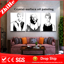 wholesale dropshipping crystal painting marilyn monroe pop art painting women hot sex image oil painting for sale in bedroom
