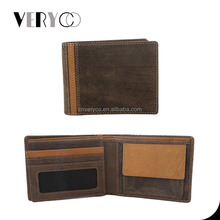 Men's Suede Multi-color Buff Leather Wallet