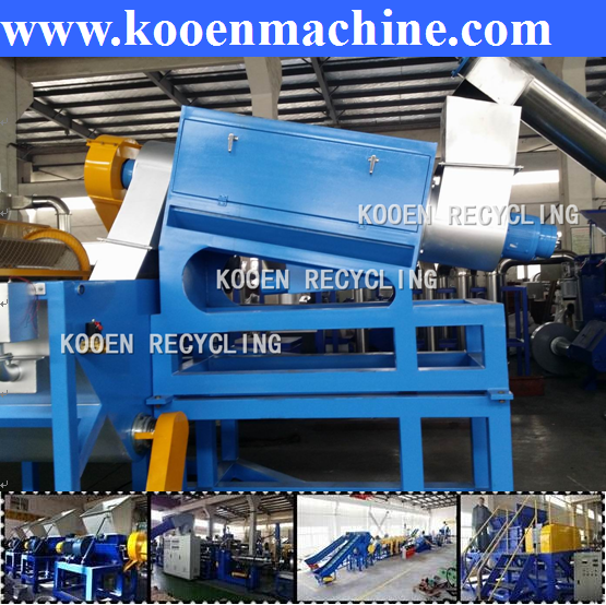 Reprocession for export waste LDPE bottle recycling machine