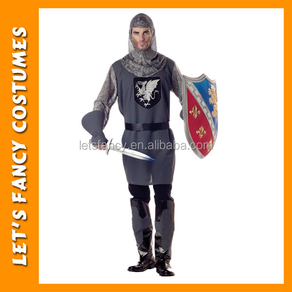 Mens Valiant Medieval Knight Renaissance halloween Fancy Dress PGMC0978