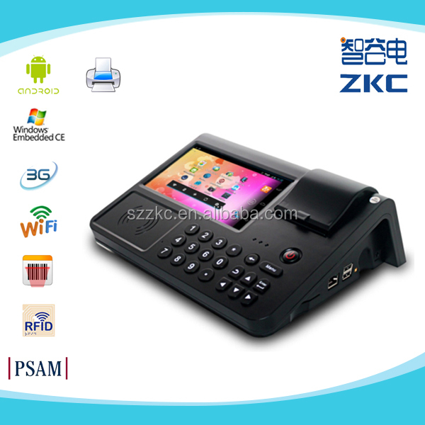 7 inch Android POS System,POS Terminal with Thermal Printer,handheld windows mobile pos terminal in logistic