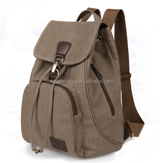 OEM Factory High Quality Outdoor Sports Cheap Stylish Travel Satchel Vintage Canvas Rucksack Backpack