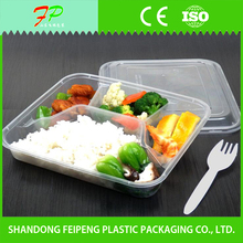 food Use and Embossing Printing Handling Take Away Disposable Plastic Commercial Plastic Food Containers