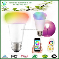 High quality 6W 9W 10W E27 bluetooth wifi led bulb