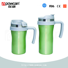Double wall stainless steel coffee thermos travel mug with handle