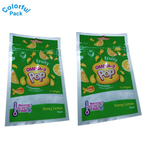 Custom resealable heat seal 3 side seal bag with zipper