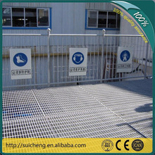 Guangzhou Hot dip galvanized serrated flat bar steel grating with twisted square rod for stairs and treads