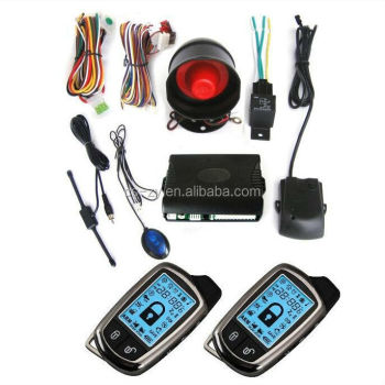 Two Way Car Alarm Canbus 2 Big LCD Remote Controls