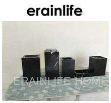 Erainlife wholesale natural marble soap dispenser pump set