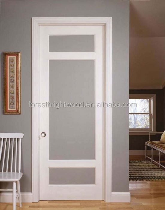 White Interior Unbreakable Frosted Glass Doors