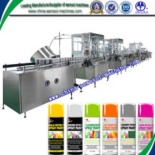 automatic aerosol can filling machine production line