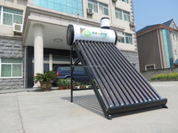 Color steel Unpressurized evacuated tube solar water heater