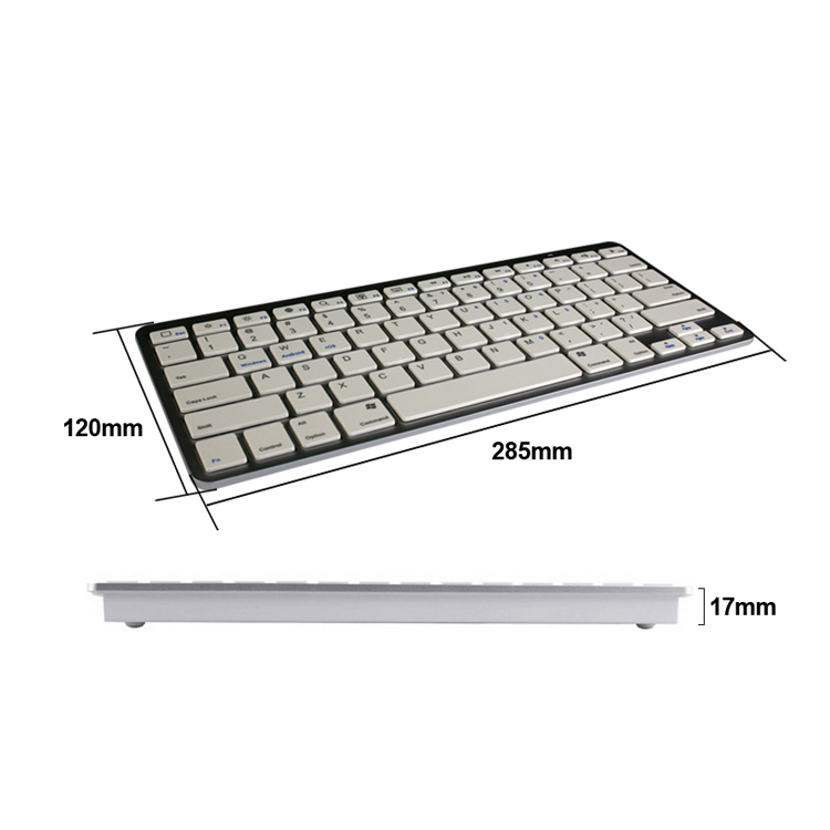multi-function 2.4g ABS 78keys mini gaming wireless bluetooth keyboard for mac/tablet/ipad