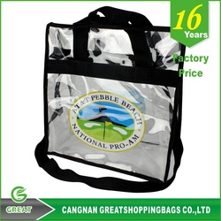 Hot Sale Fashion Simple Design Clear PVC Shopping Tote Bag