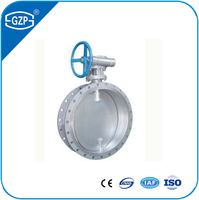 ANSI Casting Carbon Stainless Steel Welding Flanged Wafer Metal Soft Sealing Manual Worm Gear Driving Operated Butterfly Valve