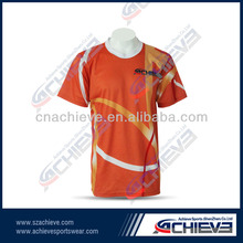 Fashion V-neck sport T-shirt supplier