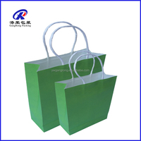 recycled color paper bag and environmental protection cheap kraft paper shopping bag
