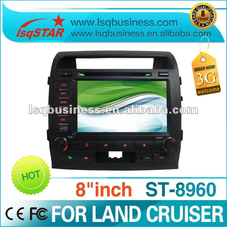 Toyota Landcruiser L200 car stereo with GPS, buletooth, canbus, ipod, RDS, V-CDC,3g,radio,support SD card/USB/IPOD/MP3/MP4