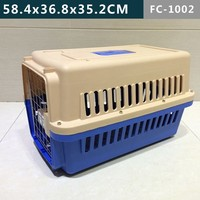 Pet cage made of plastic material for air transport or othe trip use