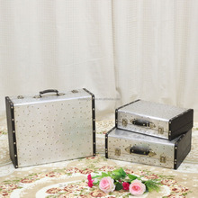 Antique Style Aluminum Shop Decorative Metal Suitcase